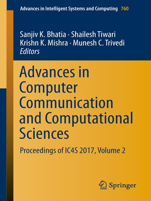 cover image of Advances in Computer Communication and Computational Sciences
